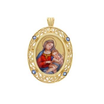 medalik recznie malowany
